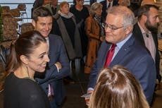 New Zealand hosts Australia PM in 1st meeting since outbreak