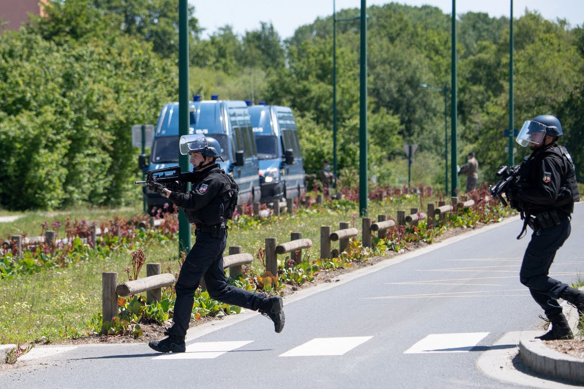 French police hunt for man accused of shooting at law enforcement