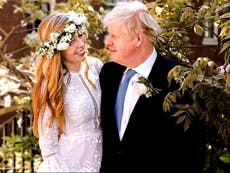 Everything we know about Carrie Symonds' wedding look