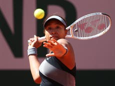French Open: Naomi Osaka through to second round with victory over Patricia Maria Tig