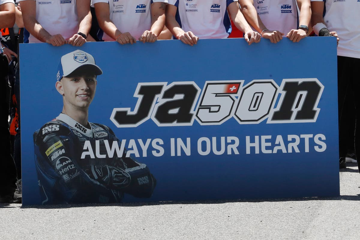 Tributes pour in for Swiss Moto3 rider Jason Dupasquier following death aged 19