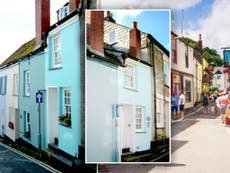 Two-bedroom cottage narrower than a London bus for sale for £430,000 in Cornwall