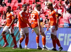 Kenny Dougall double helps Blackpool return to Championship with play-off win