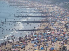 UK beaches flooded with bank holiday day-trippers