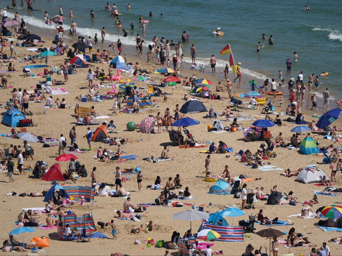 Bank holiday sees UK's hottest day of the year
