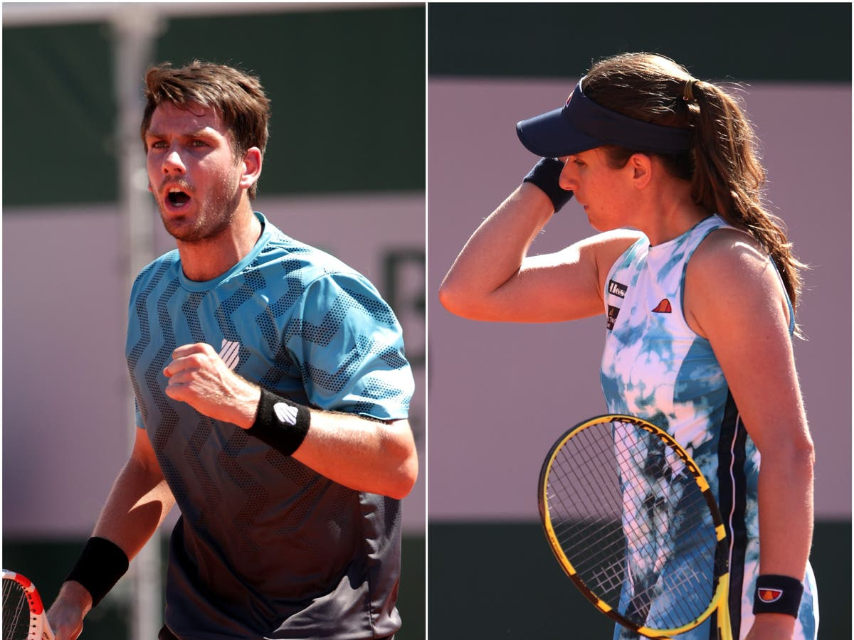Cameron Norrie progresses at French Open as Johanna Konta and Heather Watson exit