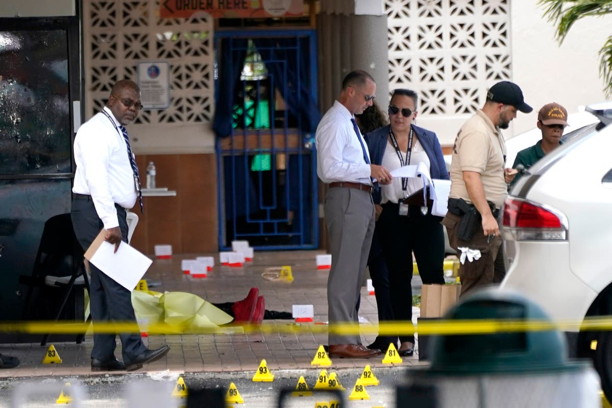 Amid grief, manhunt in Miami continues for 3 shooters