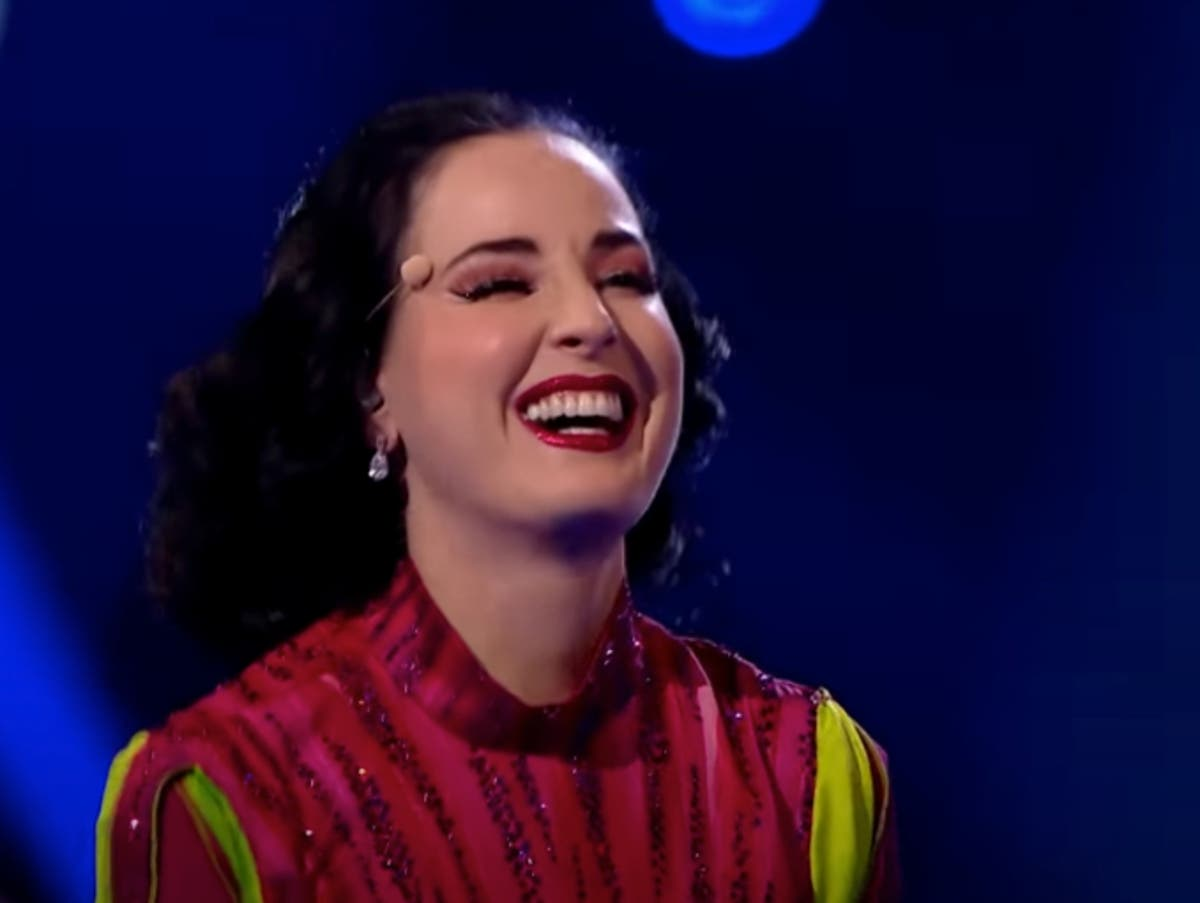 The Masked Dancer fans stunned as Dita Von Teese unmasked as Beetroot
