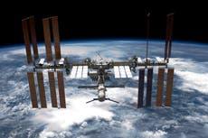 Space debris punctures International Space Station's robotic arm