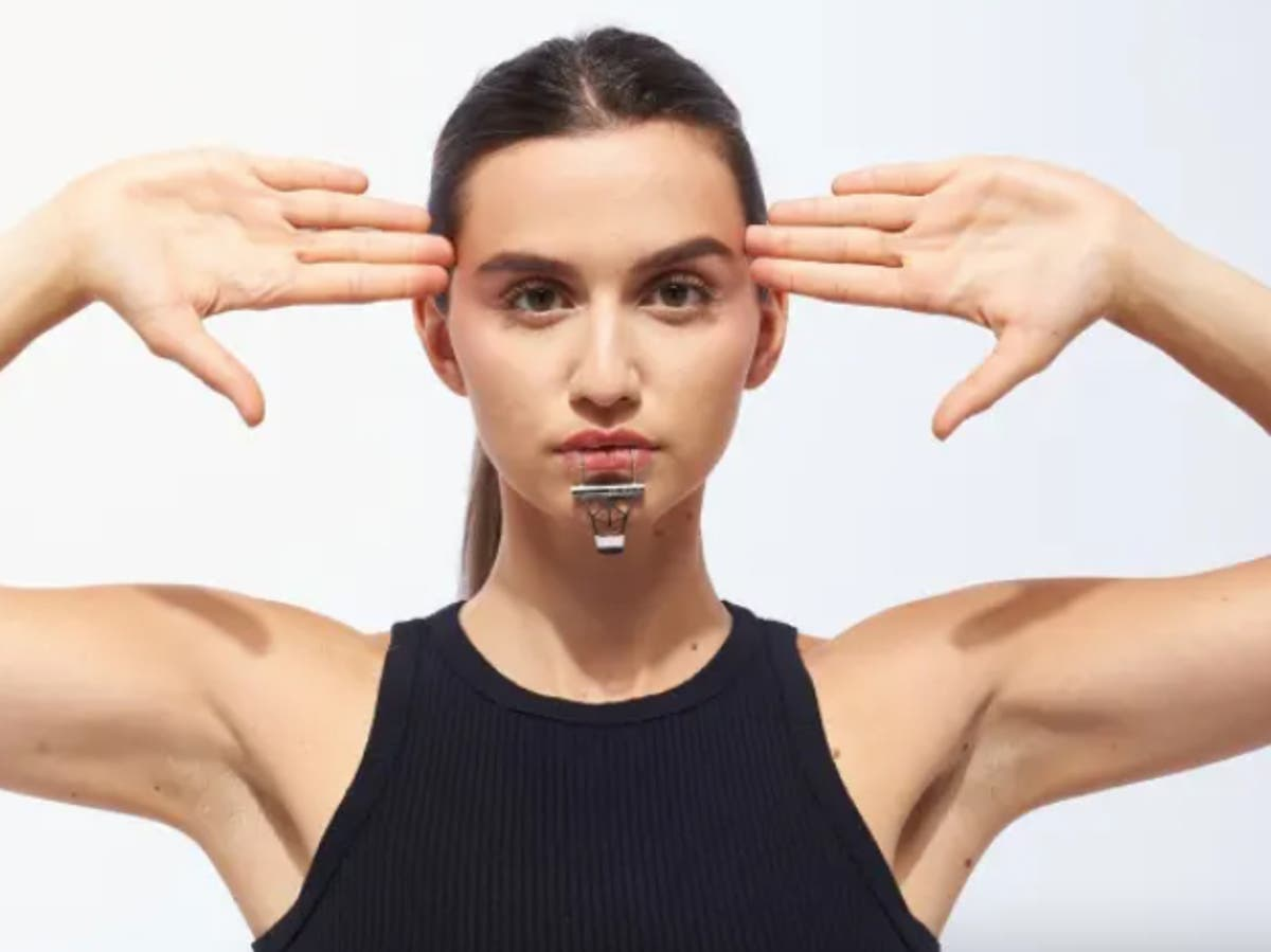 Internet baffled by metal face jewellery to 'compliment your chin'