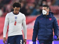 Trent Alexander-Arnold doubtful for Euro 2020 after limping off against Austria