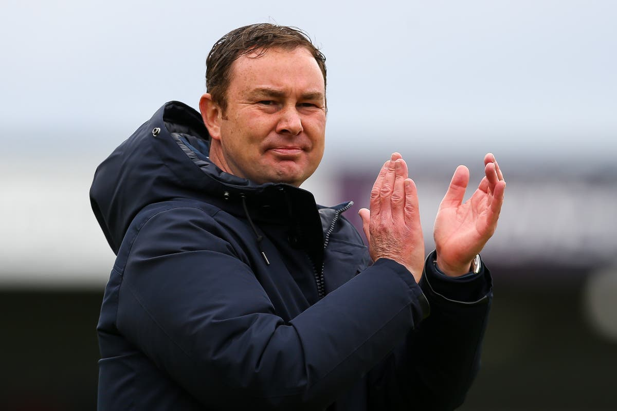 Morecambe manager Derek Adams leaves club after winning promotion to League One