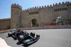 Lewis Hamilton struggles in second practice ahead of Azerbaijan Grand Prix