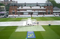 Rain thwarts England as no play possible before tea on the third day at Lord's