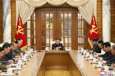 NKorean leader calls for meeting to review battered economy