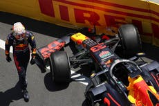Max Verstappen crashes out in final practice for Azerbaijan Grand Prix