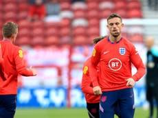 Jordan Henderson trains with England squad ahead of Romania friendly