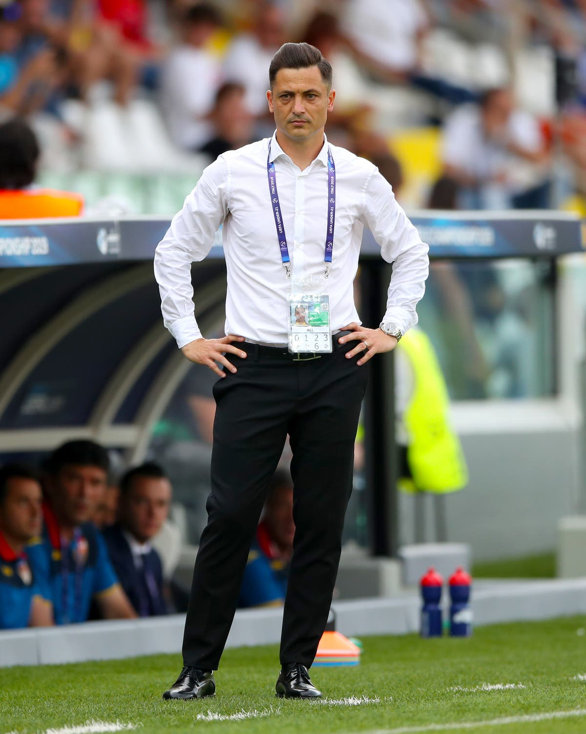 Romania boss Mirel Radoi urges caution against England's attacking 'threats'