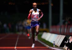 Mo Farah misses chance to seal Olympic spot after finishing eighth in Birmingham