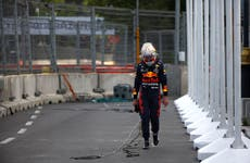 Max Verstappen crashes out five laps from the end of Azerbaijan Grand Prix