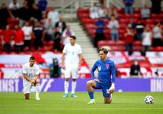England players booed as they take the knee ahead of friendly with Romania