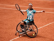 Alfie Hewett successfully defends his French Open wheelchair singles title