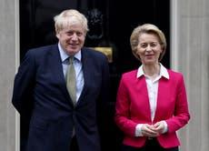 EU chief tells Boris Johnson of 'deep concern' over Brexit deal ahead of G7 meeting
