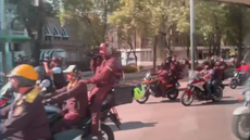 Video shows Kamala Harris' motorcade mobbed by motorbikes in Mexico City