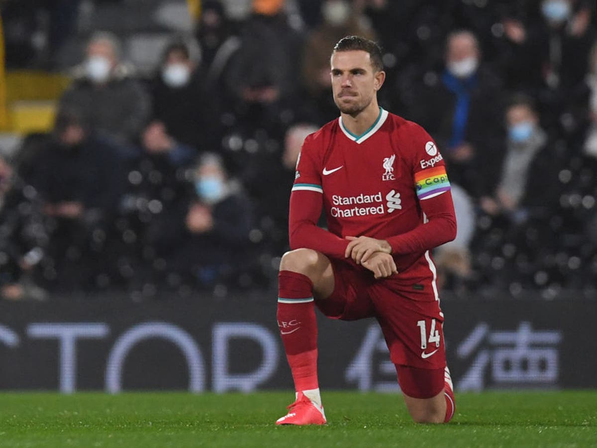 Jordan Henderson: Booing the knee shows 'there's still a problem'