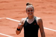Maria Sakkari completes unlikely French Open semi-final line-up