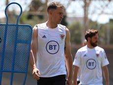 Aaron Ramsey: Wales midfielder sits out training ahead of Euro 2020 opener