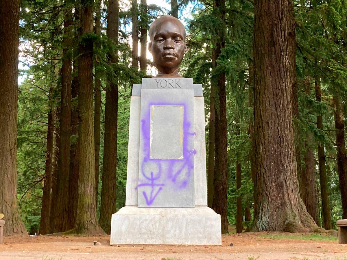 Statue of Black hero of Lewis & Clark trip defaced in Oregon