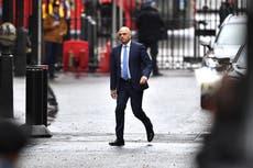 Sajid Javid announced as Health Secretary after Matt Hancock resigns