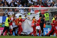 Christian Eriksen: Denmark midfielder collapses during Euro 2020 game