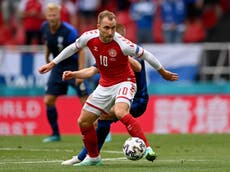 Christian Eriksen: Football world comes together in support for Denmark player after collapse during match