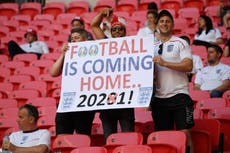 England vs Croatia: How many fans are at Wembley for their Euro 2020 åpner?