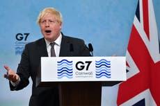 G7 summit — live: Boris Johnson denies Brexit rift marred event as Joe Biden meets Queen at Windsor Castle