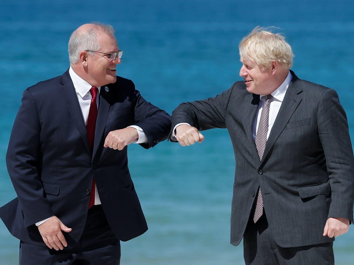 Boris Johnson 'agrees Australia trade deal over dinner' – your daily politics briefing