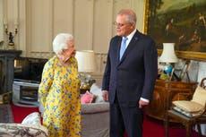 Queen Elizabeth II meets Australia's Morrison at Windsor
