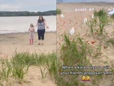 'Karen' seen almost interrupting beach proposal in viral TikTok: 'Please walk away'