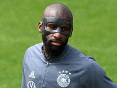 Why is Antonio Rudiger wearing a mask for Germany at Euro 2020?