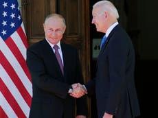 Biden-Putin meeting - live: Presidents shake hands at Geneva summit ahead of talks on nuclear weapons