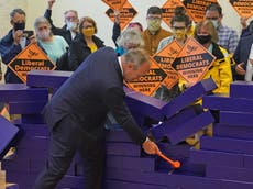 Chesham and Amersham by-election - live: Lib Dems claim shock win as Boris Johnson branded 'charlatan'
