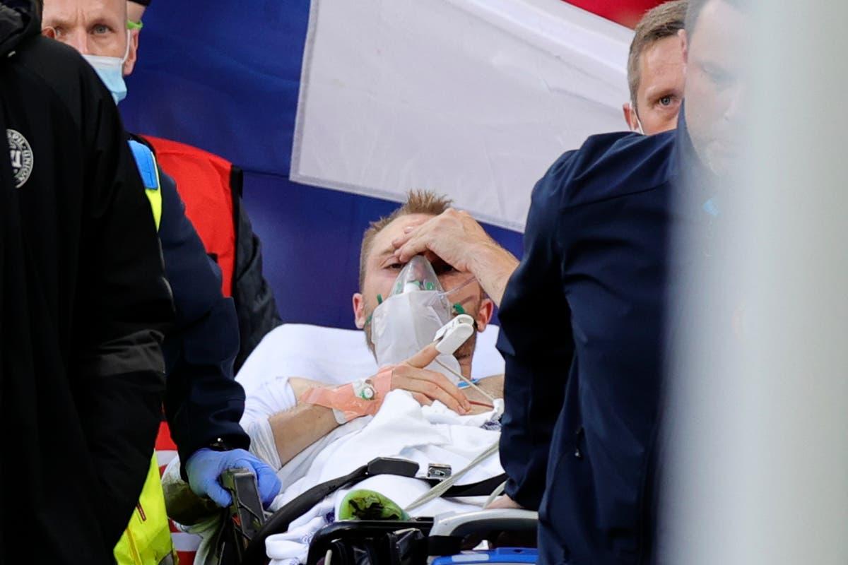 Simon Kjaer and Denmark medics honoured by Uefa for saving Christian Eriksen