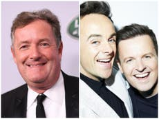 Piers Morgan blasts Ant and Dec after I'm a Celebrity offer