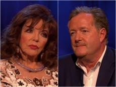 Piers Morgan shut down by Dame Joan Collins over Meghan Markle question during Life Stories interview