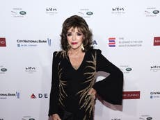 Dame Joan Collins tells Piers Morgan her 'lips are sealed' on the subject of Prince Harry and Meghan