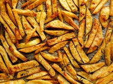 Perfect oven chips, with a Middle Eastern twist
