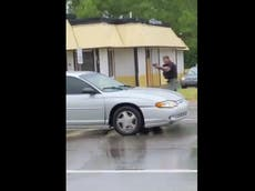 Video emerges of police shooting teenage woman who opened fire on them at Juneteenth rally