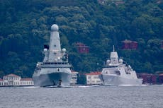 Russia fires 'warning shots' against British ship, Moscow Defence Ministry says